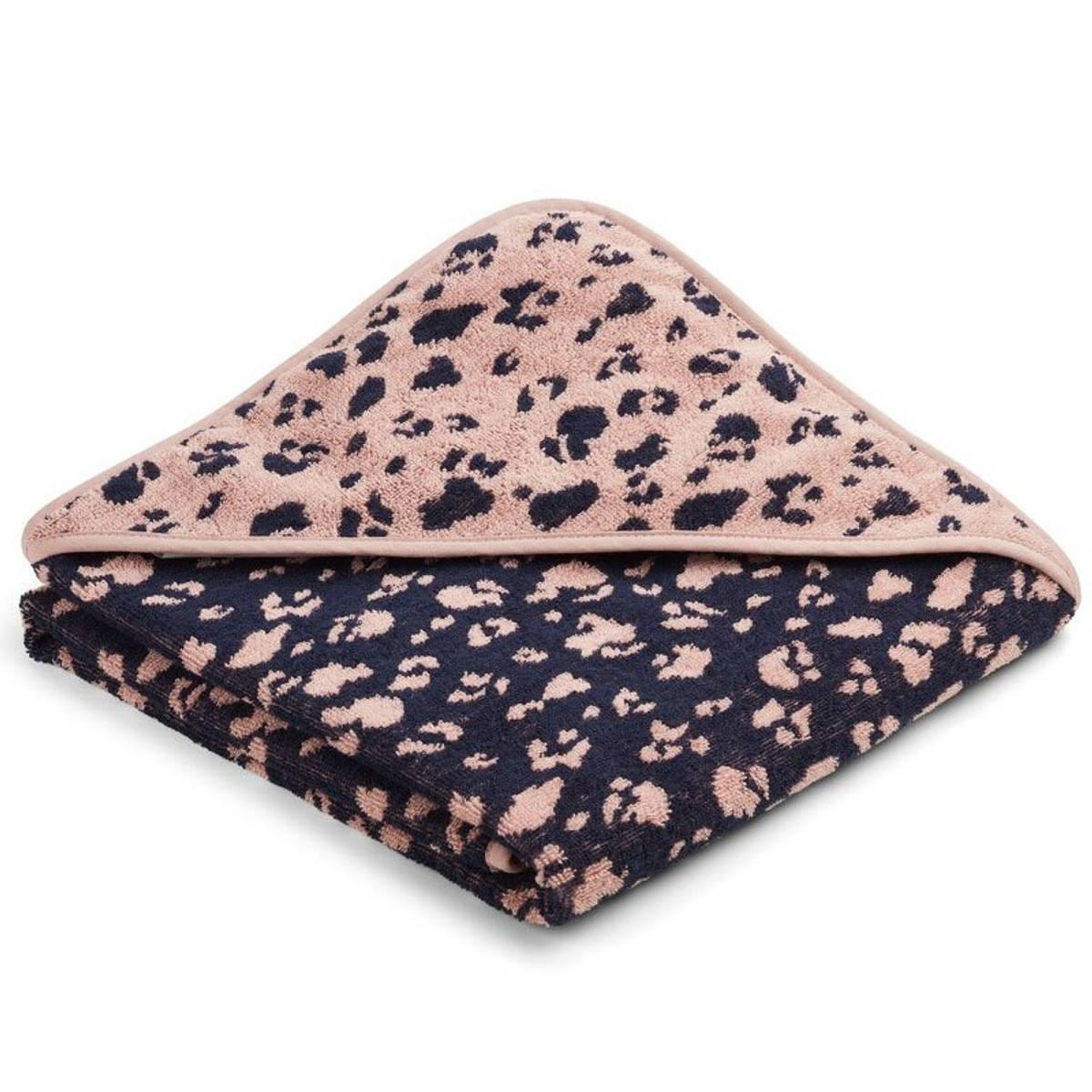 Badehåndkle Ebba Hooded Towel Leo Rose